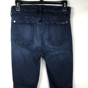 7 for all Mankind Women's skinny Jeans 31 Mid Rise